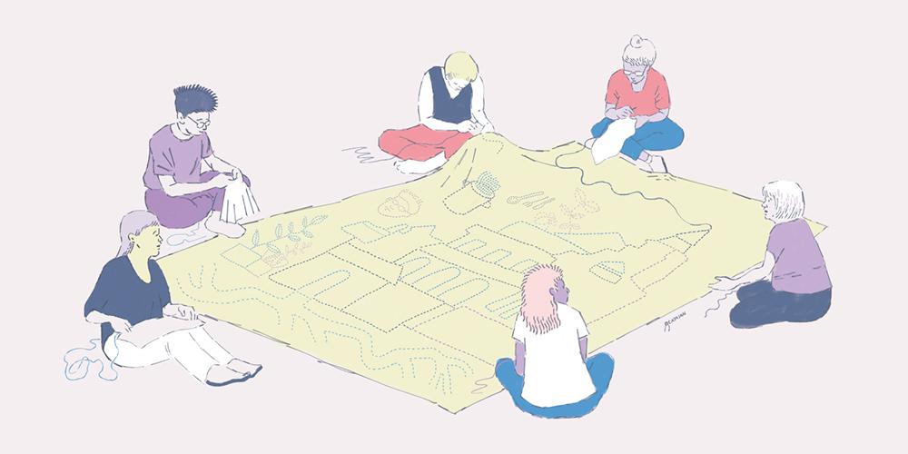 Imagen realizada por Simón catalán ilustrando la carta de Ignacia