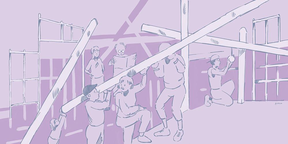 imagen realizada por Simon Catalan que ilustra la carta del colectivo Caput